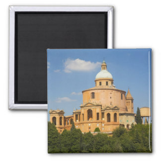 Italy, Bologna, Sunny Day with Portico di San Refrigerator Magnet
