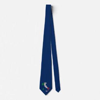 Italy boot flag tie