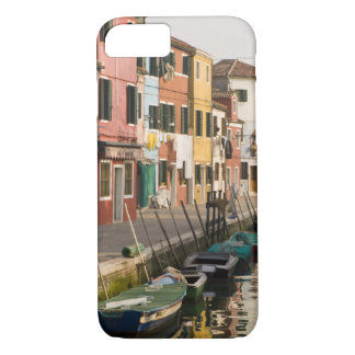 Italy, Burano. Colorful houses of line a iPhone 7 Case