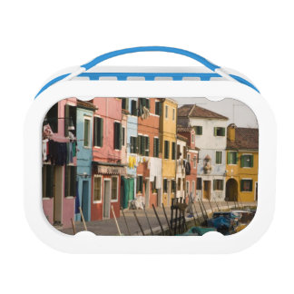 Italy, Burano. Colorful houses of line a Lunch Box