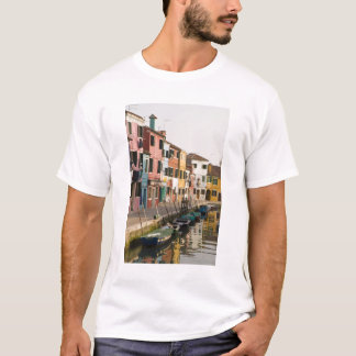 Italy, Burano. Colorful houses of line a T-Shirt