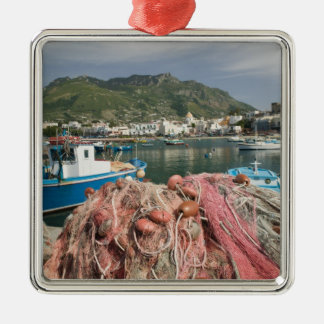 ITALY, Campania, (Bay of Naples), ISCHIA, FORIO: Silver-Colored Square Ornament