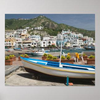 ITALY, Campania, (Bay of Naples), ISCHIA, Poster