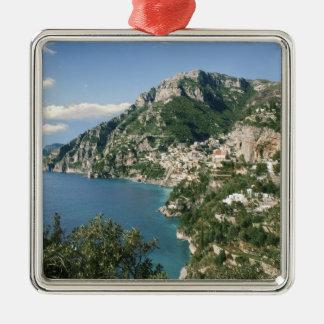 Italy, Campania, Sorrentine Peninsula, Positano, Silver-Colored Square Ornament