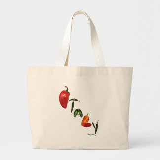 Italy Chili Peppers Large Tote Bag