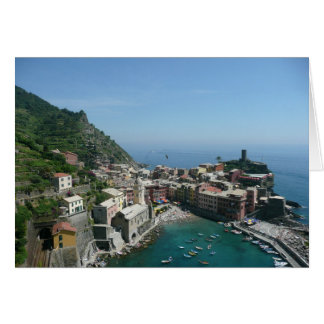 Italy, Cinque Terre, Italian Riviera, Vernazza Card