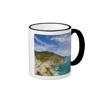 Italy, Cinque Terre, Vernazza, Hillside Town of 2 Coffee Mug