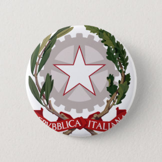 Italy coat of arms 2 inch round button