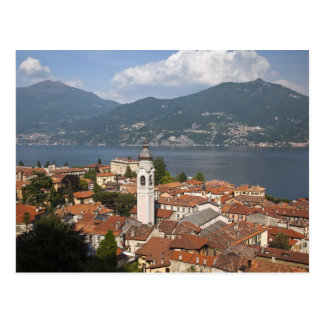 Italy, Como Province, Menaggio. Town view and Postcard