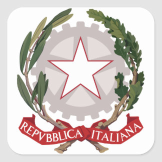 italy emblem square sticker