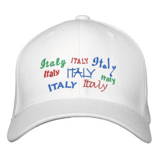 italy embroidered hat