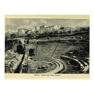 Italy, Fiesole, Rpman Theatre Postcard