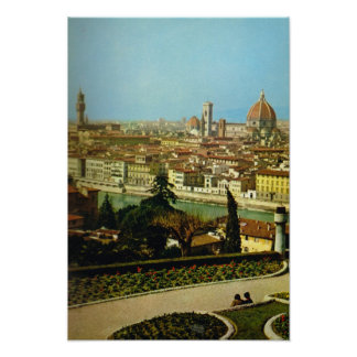 Italy, Firenze, Panorama of the city Poster