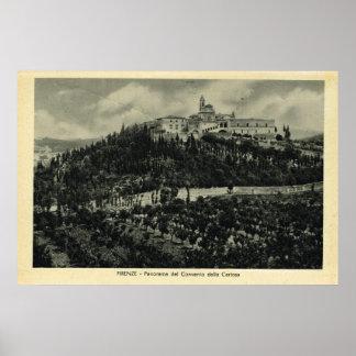 Italy Firenze Pilgrimage convent Print