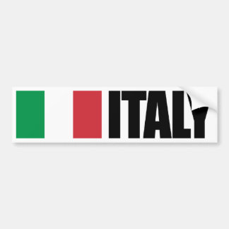 Italy Flag Bumper Sticker