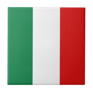 Italy Flag Ceramic Tile