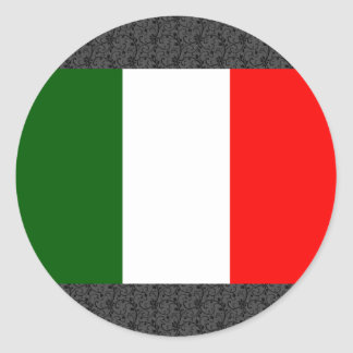 Italy Flag Classic Round Sticker