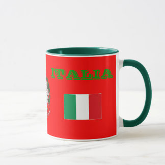 ITALY Flag & Coat of Arms Mug