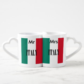 Italy flag coffee mug set