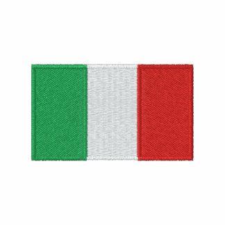 Italy flag embroidered men's t-shirt