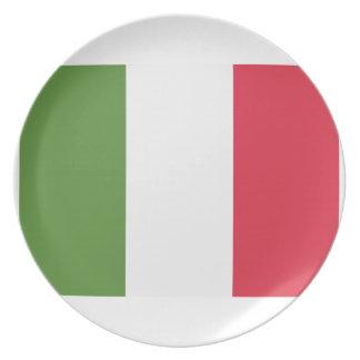 Italy Flag Emoji Twitter Dinner Plates