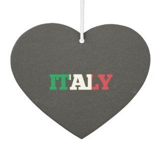 Italy flag font air freshener