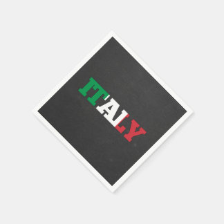Italy flag font paper napkin