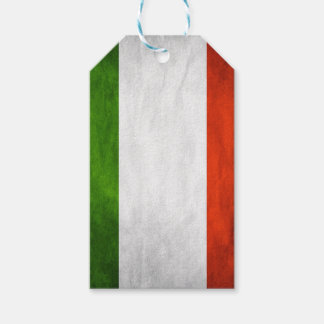 Italy flag gift tags