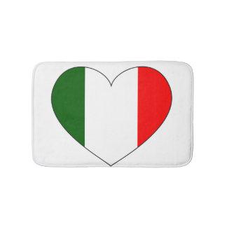 Italy Flag Heart Bath Mat