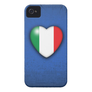 Italy Flag Heart on sunburst background Case-Mate iPhone 4 Case