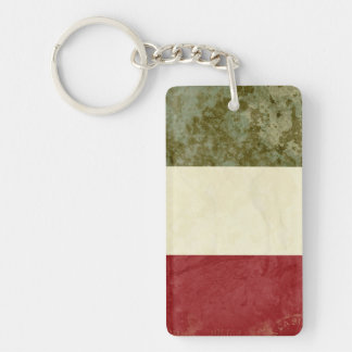 Italy Flag Key Chain Souvenir
