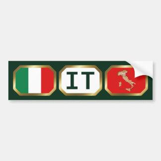Italy Flag Map Code Bumper Sticker