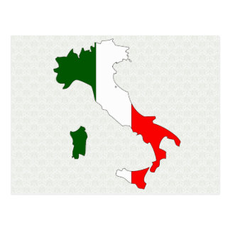 Italy Flag Map full size Postcard