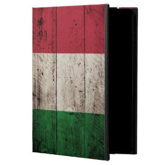 Italy Flag on Old Wood Grain