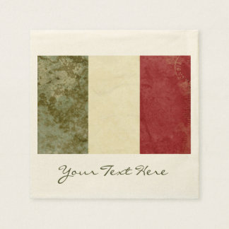 Italy Flag Party Napkins Disposable Napkins