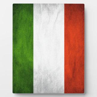 Italy flag plaque