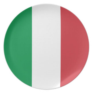 Italy Flag Plate
