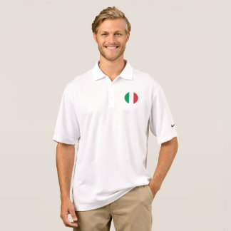 Italy Flag Polo Shirt