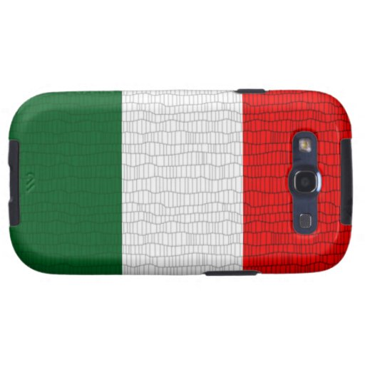 Italy Flag Snake Skin Samsung Galaxy S3 Covers