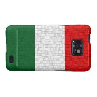 Italy Flag Snake Skin Galaxy S2 Case