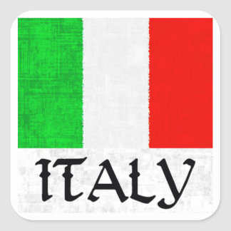 ITALY FLAG SQUARE STICKER