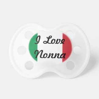 Italy flag with Italian Nonna Pacifiers
