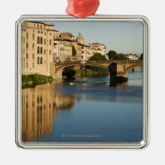 Italy, Florence, Bridge over River Arno Metal Ornament