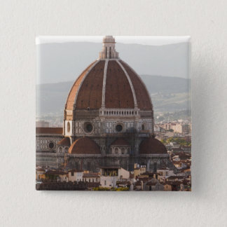Italy, Florence, Dome of Duomo cathedral 2 Inch Square Button