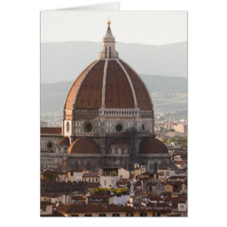 Italy, Florence, Dome of Duomo cathedral Card