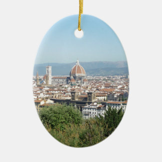 Italy Florence Duomo Michelangelo Square (New) Ceramic Oval Ornament