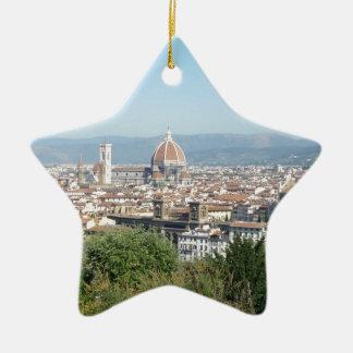 Italy Florence Duomo Michelangelo Square (New) Ceramic Star Ornament