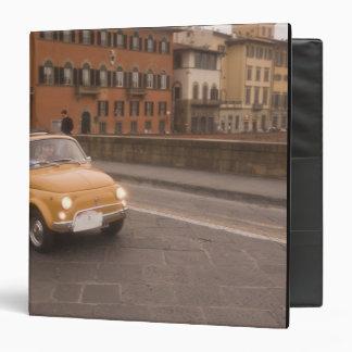 Italy, Florence. Fiat 800 Rally crosses Arno Vinyl Binder