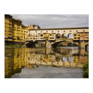 Italy, Florence, Reflections in the River Arno Postcard