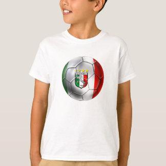 Italy Forza Azzurri Calcio Soccer Ball T-Shirt